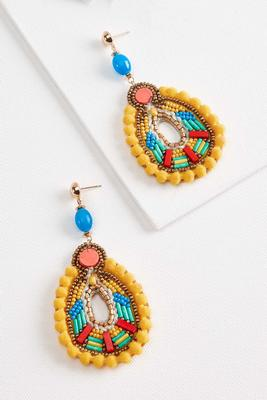 fiesta bead earrings