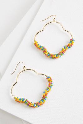 fiesta bead clover earring