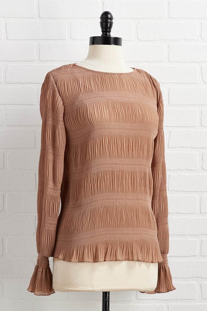 Remember To Say Pleats Top