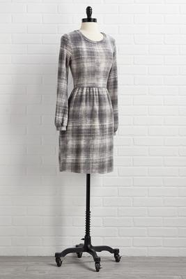 plaid to see snow dress