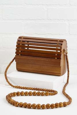 wooden crossbody