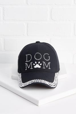 blinged dog mom hat