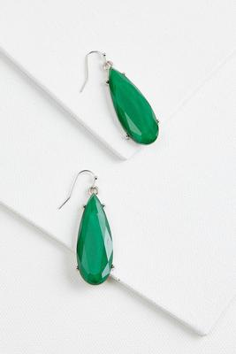 colorful tear earrings