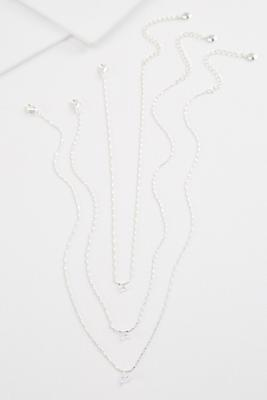dainty layered necklace