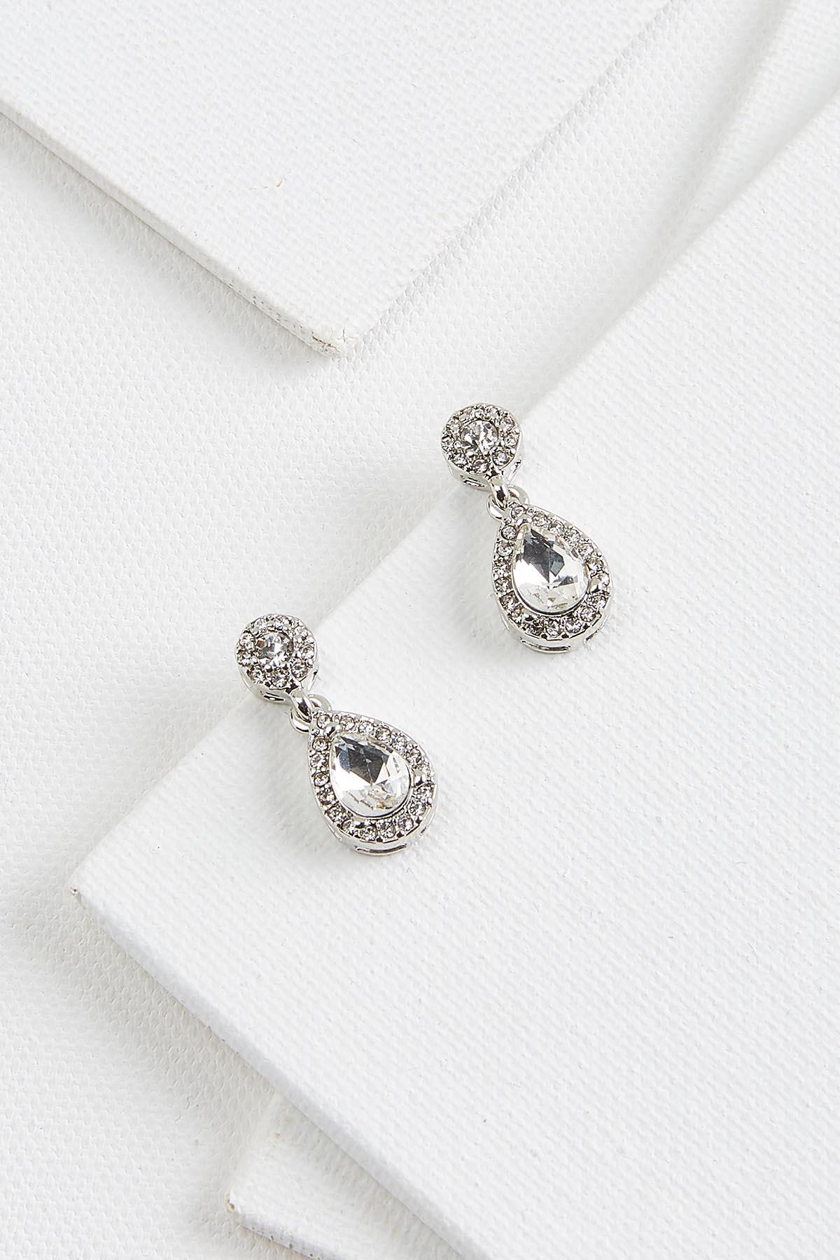 Crystal Tear Earrings
