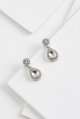 crystal tear earrings