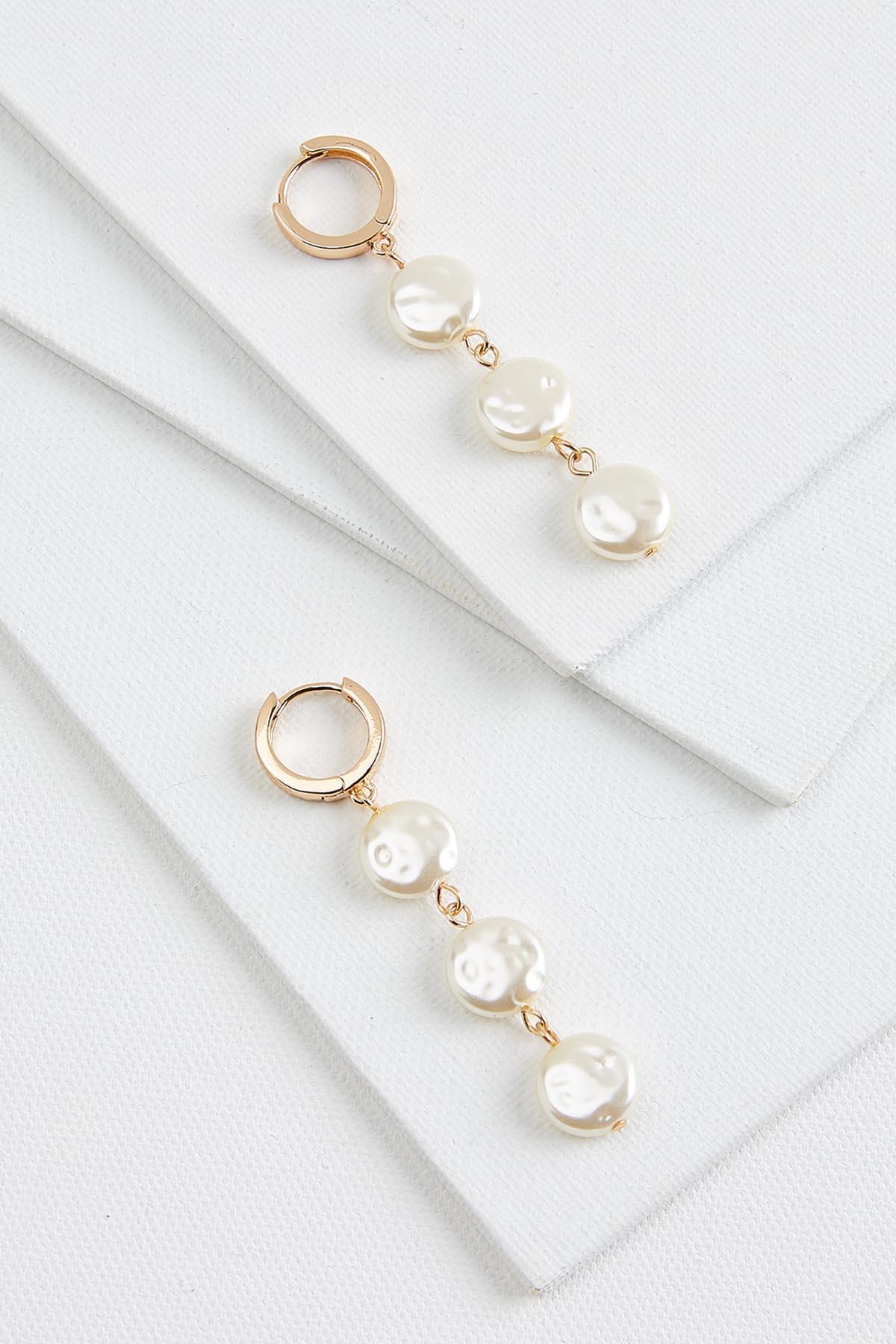 Linear Natural Pearl Earrings