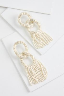 pearl link earrings