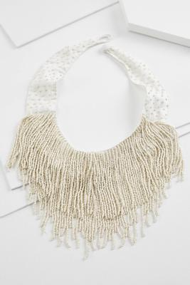 pearl fringe necklace