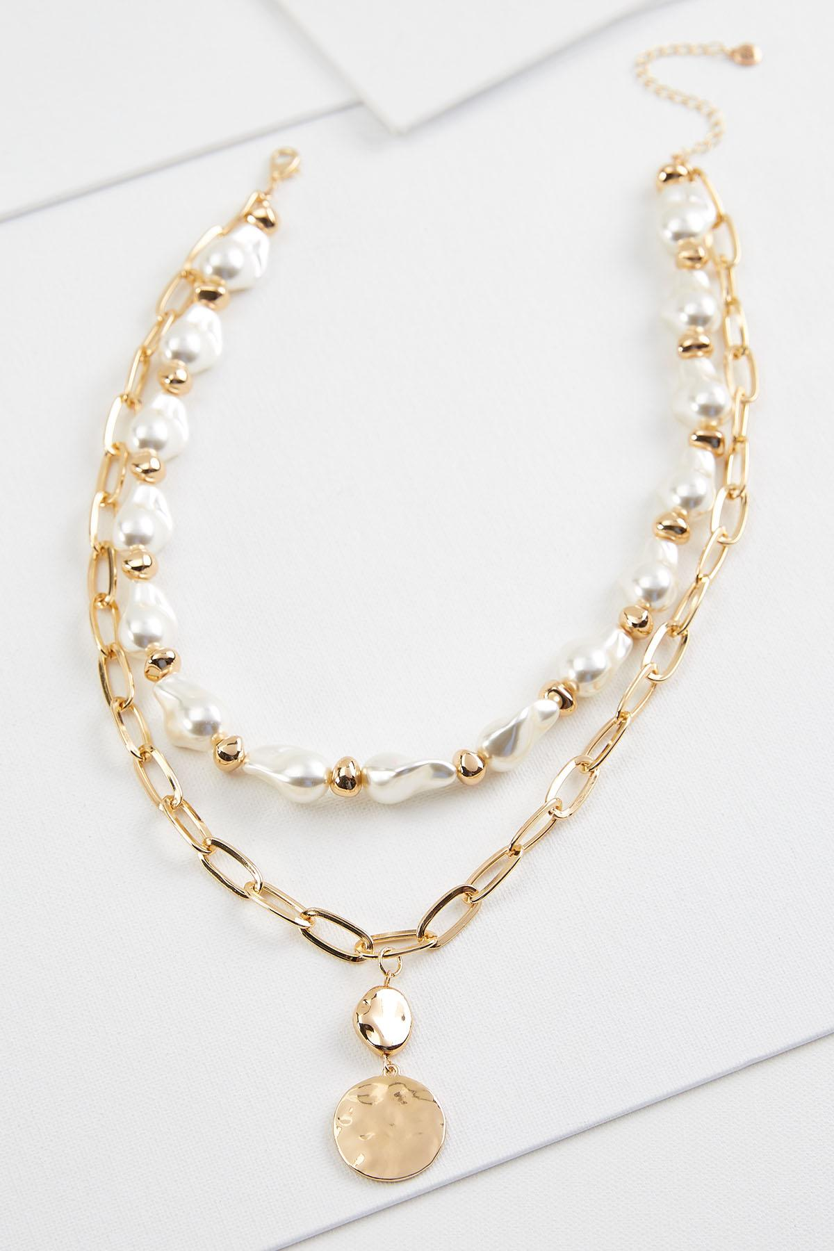 Trendy Pearl Pendant Necklace