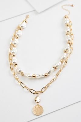 trendy pearl pendant necklace