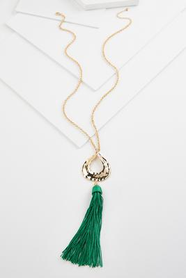 tear tassel necklace