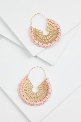 crochet filigree earrings