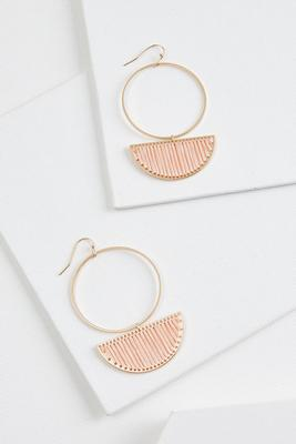 threaded semi hoop earrings
