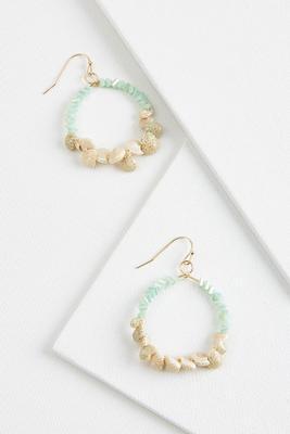 crystal shell earrings