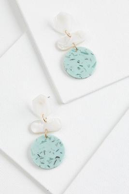 crackled stone earrings