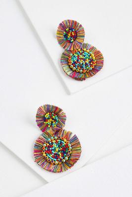 party fringe earrings