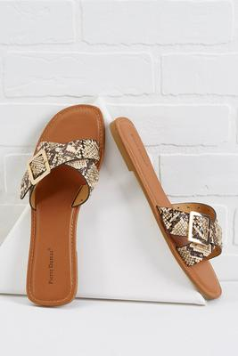 slitherin` into spring sandals
