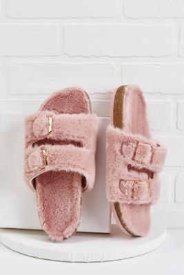 in fur a treat sandals