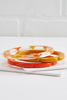 spicy lucite bracelets