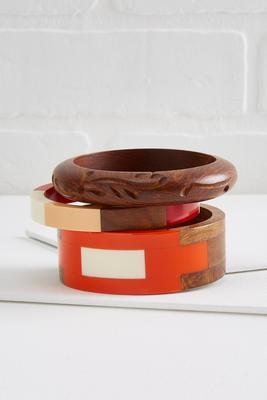 marmalade wooden bangles