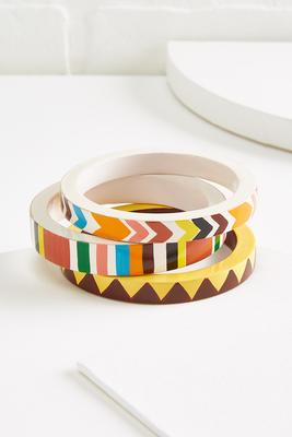 painted wooden bangle set