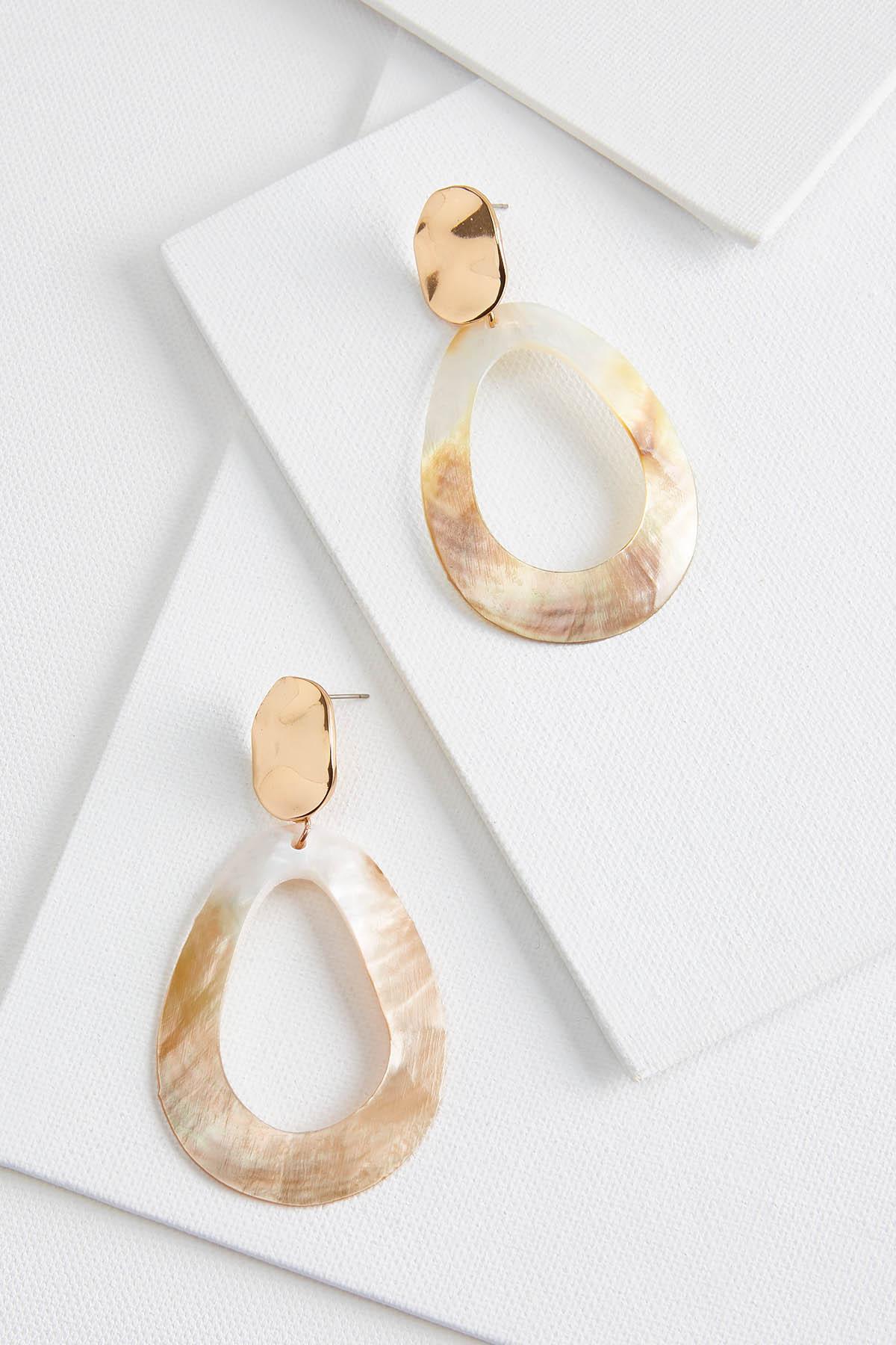 Shell Cutout Earrings