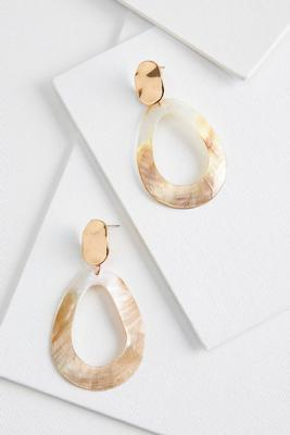 shell cutout earrings