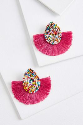 beaded party earrings