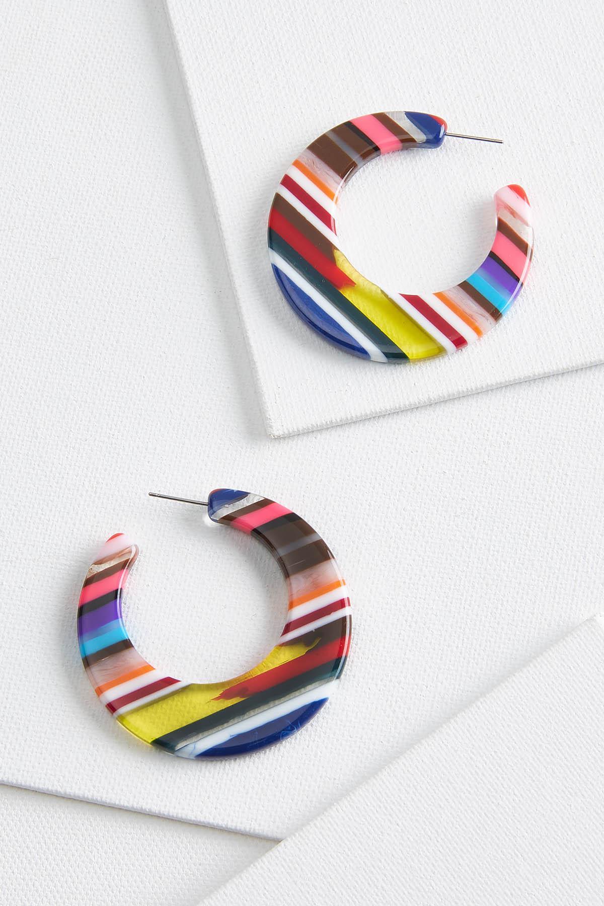 Sweet Striped Earrings