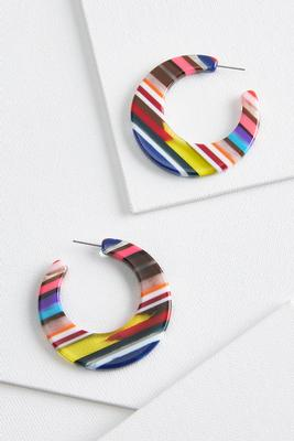 sweet striped earrings