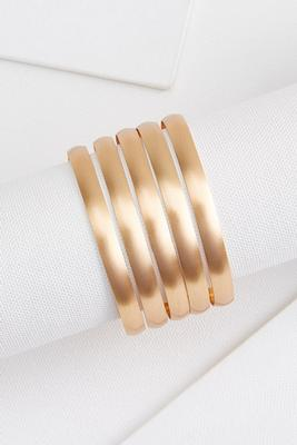brushed bangle set