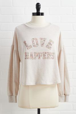 love happens sweatshirt