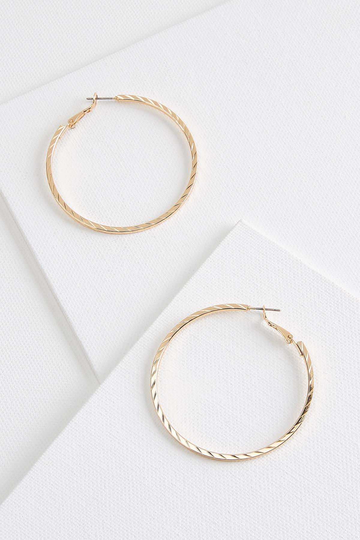 Textured Dainty Hoop Earrings