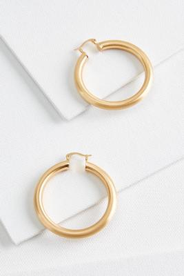 classic chunky metal hoop earrings