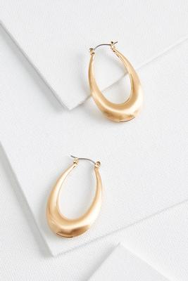 oval tube earrings