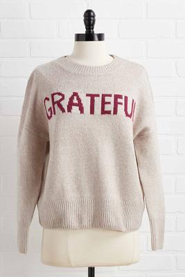 grateful sweater