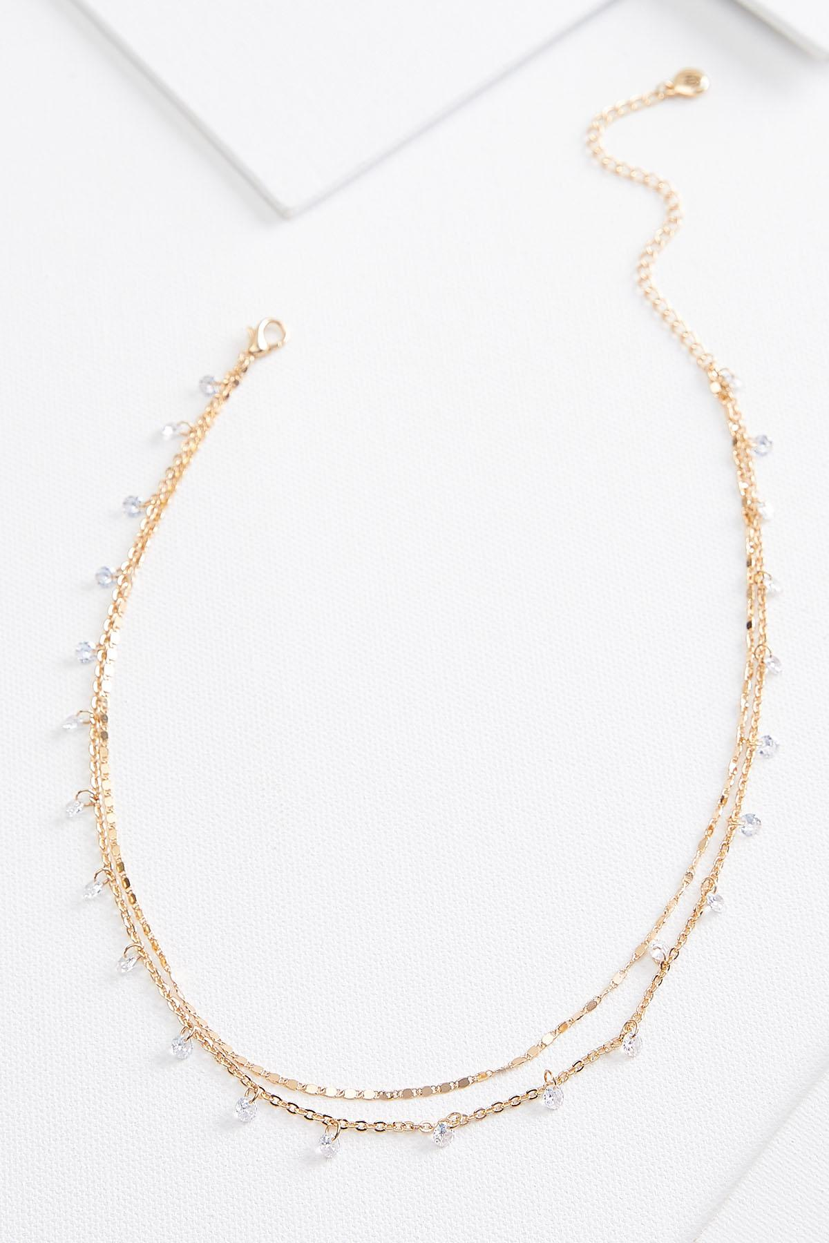 Dainty Beaded Chain Necklace