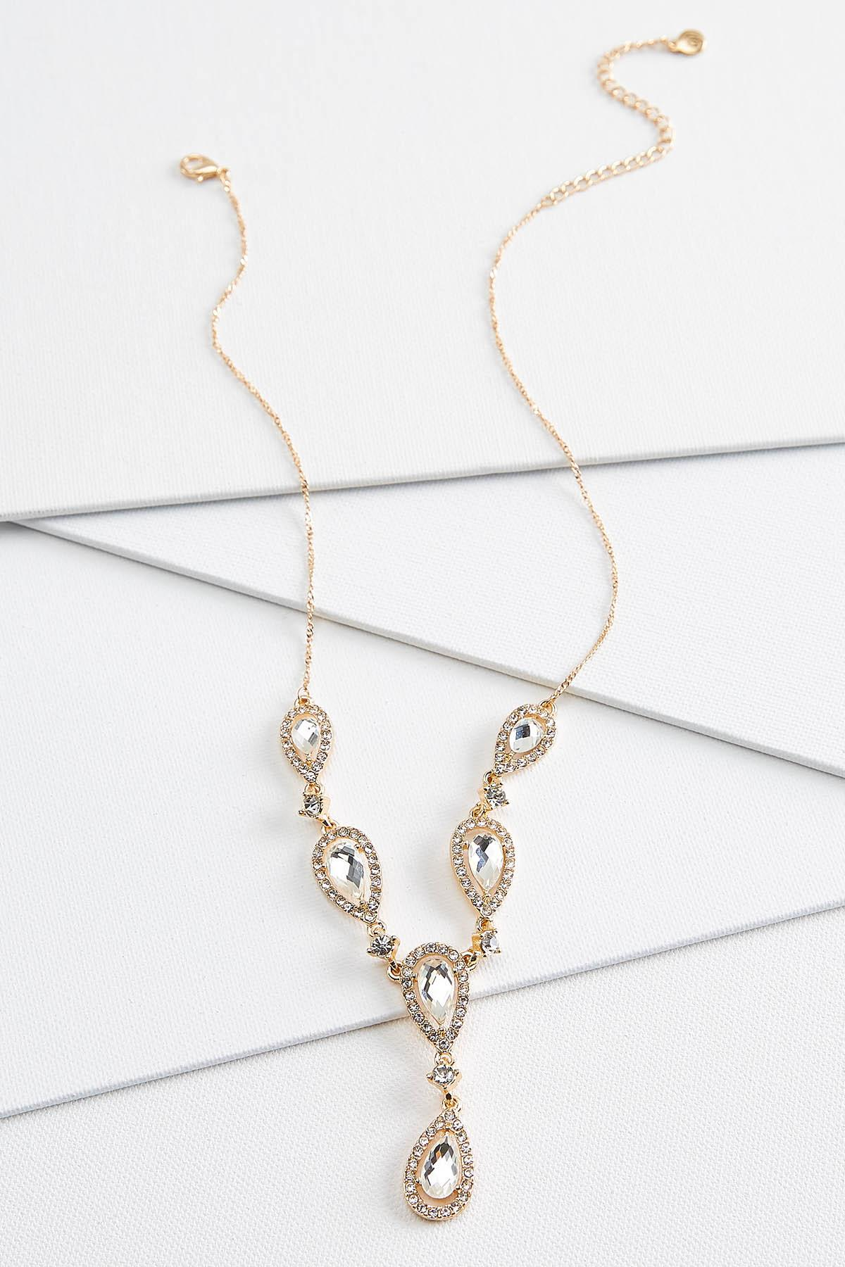 Pave Tear Necklace