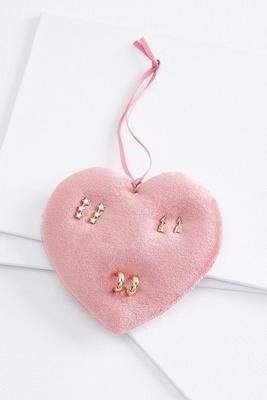 dainty gold earring set