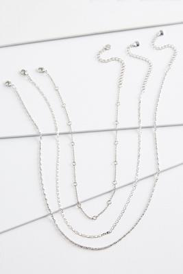 silver chain necklace set