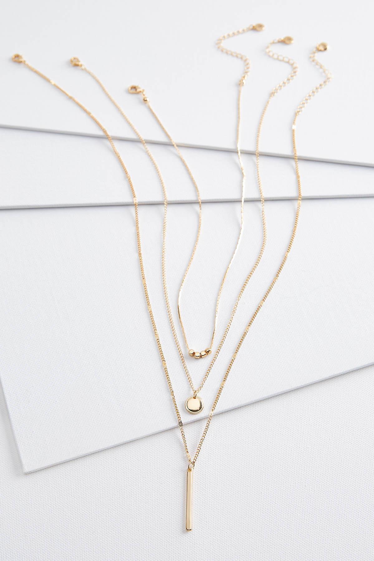 Golden Trio Charm Necklace