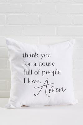 thankful prayer pillow