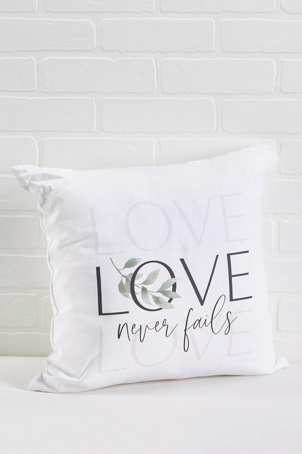 Love Never Fails Pillow