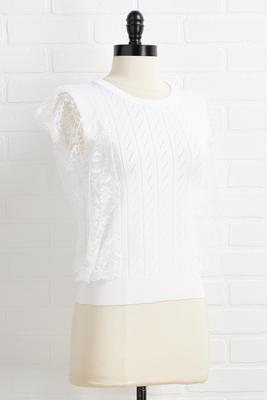 lace be honest sweater