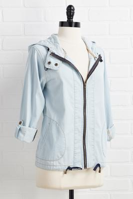 pop the chambray jacket