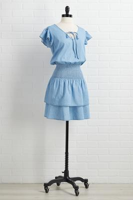 babydoll blues dress
