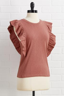 ruffle morning top