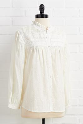 standing lace to lace top