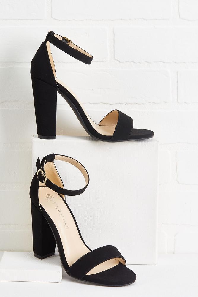 Strappy Block Heels